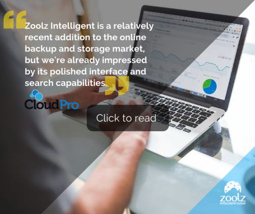 A quote from a review of Zoolz Intelligent Cloud