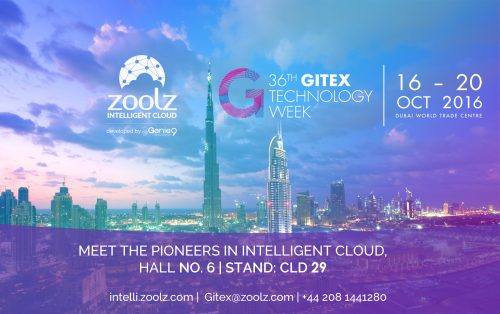 Zoolz will be presenting Zoolz Intelligent Cloud at GITEX 2016