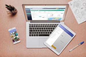 BigMIND AI Cloud Backup application on mobile, laptop, and tablet